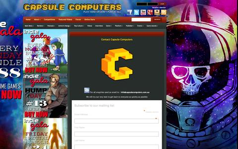 Screenshot of Contact Page capsulecomputers.com.au - Contact Us | Capsule Computers - Gaming & Entertainment News, Reviews, Interviews & Competitions - captured Dec. 7, 2015