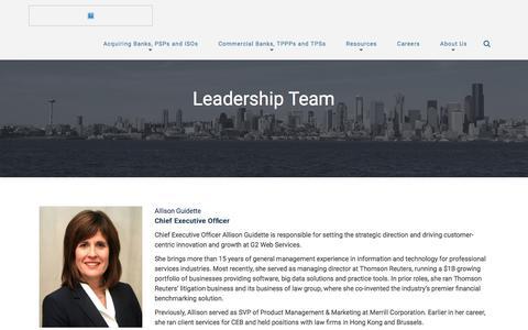 Screenshot of Team Page g2webservices.com - Management | G2 Web Services - captured March 24, 2016