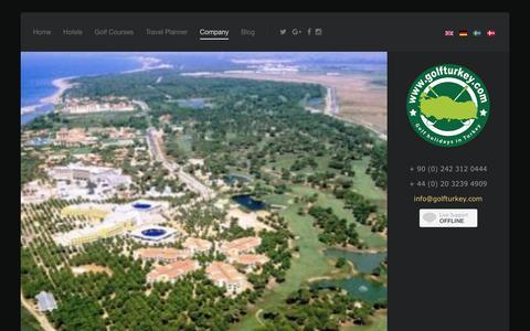 Screenshot of Site Map Page golfturkey.com - site map for Perfect Golf Holidays in Turkey - https://golfturkey.com - captured Nov. 19, 2016