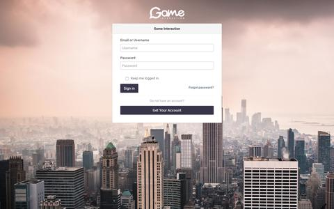 Screenshot of Login Page gameinteraction.com - Welcome To Game Interaction Group Ltd - captured July 17, 2017