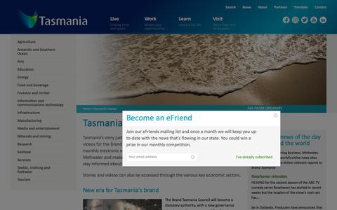 Screenshot of Press Page brandtasmania.com - Tasmania's Stories | Brand Tasmania - captured Oct. 11, 2017