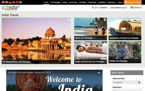 Screenshot of Home Page t2india.com - Travel to India - Travel Agency in India, Tour Agency in India - captured Aug. 17, 2017