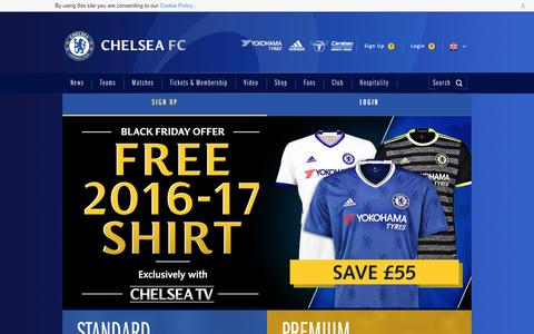 Screenshot of Signup Page chelseafc.com - Join the Club | Security | Official Site | Chelsea Football Club - captured Dec. 2, 2016