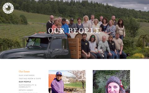 Screenshot of Team Page leftcoastwine.com - Our People — Left Coast Cellars - captured July 18, 2018
