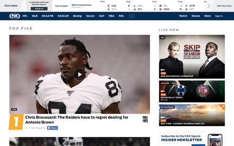Screenshot of Home Page foxsports.com - Home - Sports News, Scores, Schedules, and Videos | FOX Sports - captured Aug. 19, 2019