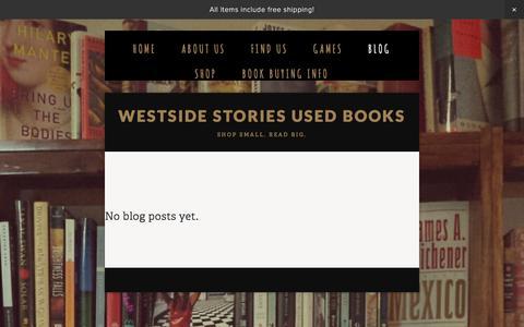 Screenshot of Blog westside-stories.com - BLOG — Westside Stories Used Books - captured March 31, 2016