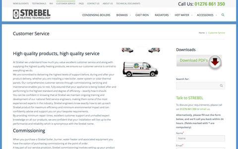 Screenshot of Support Page strebel.co.uk - Customer Service - StrebelStrebel - captured Sept. 29, 2016