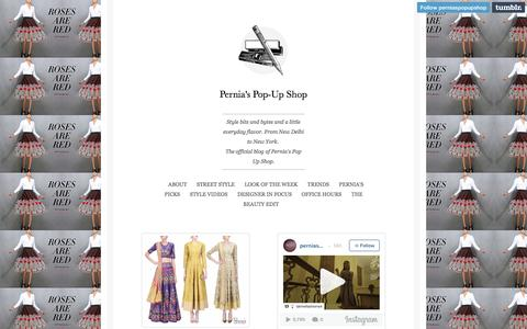 Screenshot of Blog perniaspopupshop.com - Pernia's Pop-Up Shop - captured Sept. 1, 2016