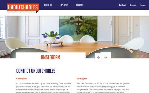 Screenshot of Contact Page undutchables.nl - Contact - Undutchables - captured Oct. 19, 2017
