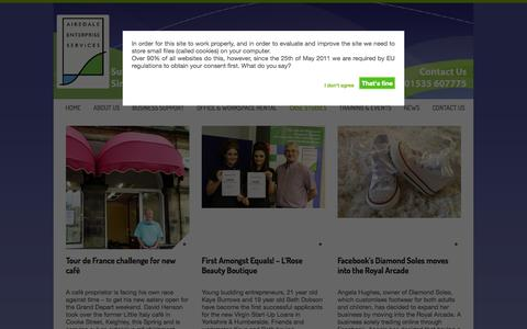 Screenshot of Case Studies Page airedaleenterprise.org.uk - Case Studies Archives | Airedale Enterprise ServicesAiredale Enterprise Services - captured Oct. 4, 2014