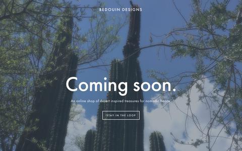 Screenshot of Home Page bedouindesigns.com - Bedouin Designs - captured Aug. 1, 2018