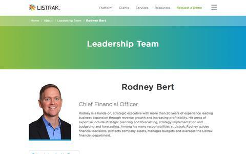 Rodney Bert | Leadership Team | Listrak