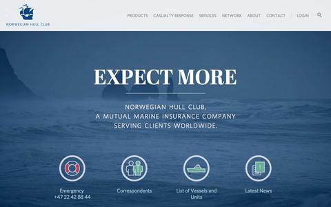 Screenshot of Home Page Menu Page norclub.no - Home » Norwegian Hull Club - captured Oct. 6, 2014