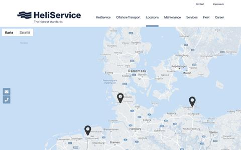 Screenshot of Locations Page heliservice.de - Locations – HeliService – The Highest Standards in Offshore Transport - captured Sept. 28, 2018
