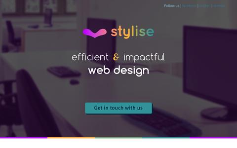 Screenshot of Home Page stylise.co - stylise | efficient & impactful web design - captured Oct. 9, 2014
