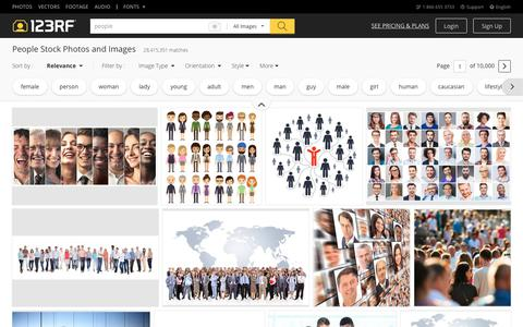 Screenshot of Team Page 123rf.com - People Stock Photos. Royalty Free People Images - captured Sept. 19, 2018