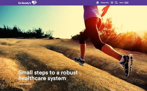 Screenshot of Home Page drreddys.com - Dr.Reddy's - captured Jan. 11, 2016