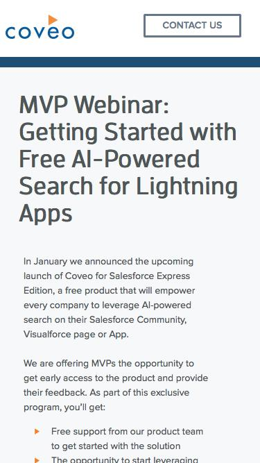 MVP Webinar: Getting Started with Free AI-Powered Search for Lightning Apps
