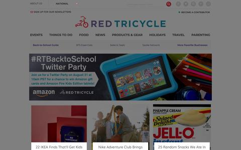 Screenshot of Home Page redtri.com - Things to Do with Kids | Red Tricycle - captured Aug. 15, 2019