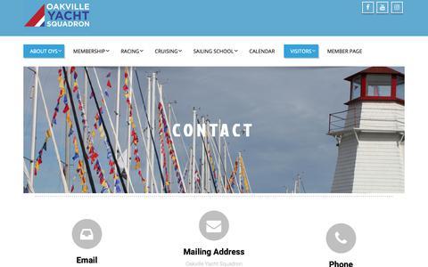 Screenshot of Contact Page oysqn.com - Contact - OYS - captured Dec. 20, 2018