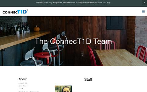 Screenshot of Team Page connect1d.org - Team — ConnecT1D - captured Jan. 2, 2018