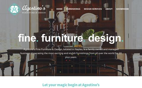 Screenshot of Home Page agostinos.com - Agostino's Fine Furniture & Design - Naples, Florida - Agostino's Fine Furniture & Design - captured Sept. 27, 2018