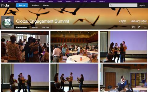 Screenshot of Flickr Page flickr.com - Flickr: Global Engagement Summit's Photostream - captured Oct. 22, 2014