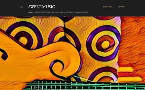 Screenshot of Home Page sweetmusicstudio.net - Sweet Music - captured Nov. 27, 2018