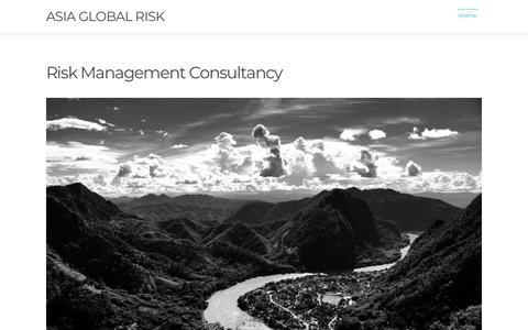 Screenshot of Home Page asia-global-risk.com - Home | Asia Global Risk - captured July 30, 2018