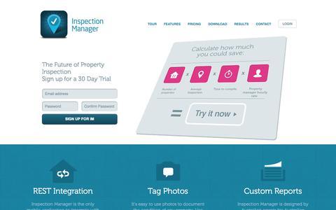 Screenshot of Home Page inspectionmanager.com.au - Home Inspection & Property Management Software : Inspection Manager - captured Sept. 30, 2014