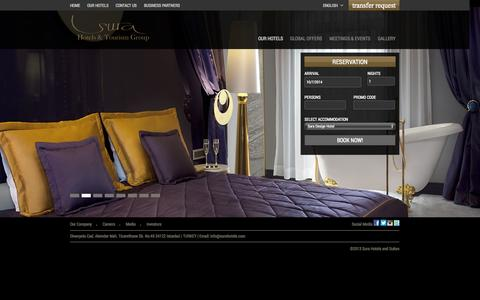 Screenshot of Home Page surahotels.com - Sura Hotels | Sultanahmet Design Hotel & Hagia Sophia Hotel in istanbul - captured Oct. 7, 2014