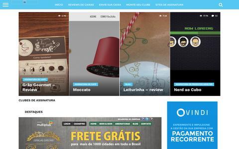 Screenshot of Home Page sitedeassinatura.com - Sites de Assinaturas e Clubes de assinatura - captured Sept. 21, 2016