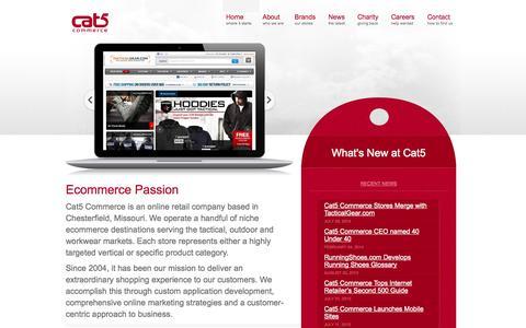Screenshot of Home Page cat5.com - Cat5 Commerce - captured Sept. 19, 2014
