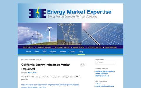 Screenshot of Blog energymarketexpertise.com - AllPosts | Energy Market Expertise - captured Oct. 2, 2014