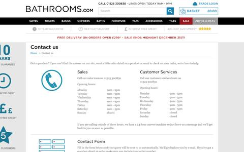 Screenshot of Contact Page bathrooms.com - Contact Us - Bathrooms.com - captured Dec. 5, 2016