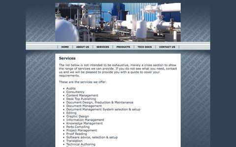 Screenshot of Services Page docmates.co.uk - Technical Documentation Services Offered by Docmates - captured Nov. 24, 2016