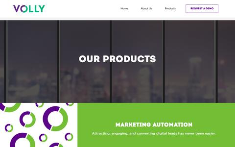 Screenshot of Products Page myvolly.com - Products – Volly - captured June 15, 2019