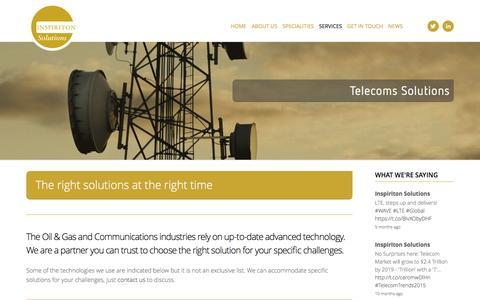Screenshot of Services Page inspiriton-solutions.com - Services — Inspiriton Solutions - captured Jan. 8, 2016