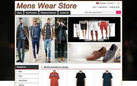 Screenshot of Home Page joomlaprofi.com - Men Shoes   Men Clothing   Men Bags – Shop For Men - captured Jan. 15, 2017