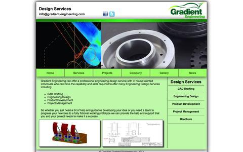 Screenshot of Services Page gradient-engineering.com - Gradient Engineering Ltd - www.gradient-engineering.com - captured Oct. 3, 2014