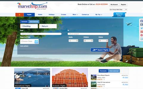 Screenshot of Home Page marveltrip.com - Marvel Trip |Tour Packages | Trip to holidays | Book Ticket |Hotels | Flight - captured Sept. 25, 2014