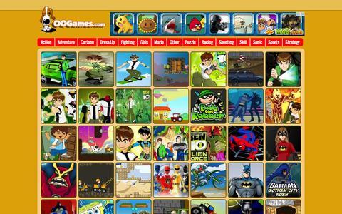 Screenshot of Home Page oogames.com - Games,oogames.com Free Online Games - captured Sept. 18, 2014