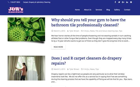 Screenshot of Press Page jandrscarpetcleaning.com - News Archives - J&R Carpet Cleaning - captured July 20, 2016