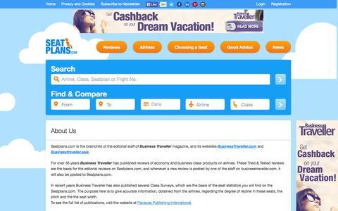 Screenshot of About Page seatplans.com - About Us | Seatplans.com - captured Oct. 26, 2014