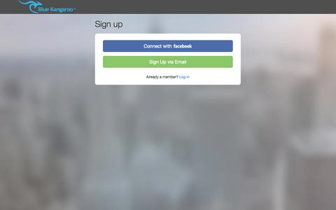 Screenshot of Signup Page bluekangaroo.com - Blue Kangaroo - Printable Coupons, Promo Codes, Discounts, and Deals - What's The Roo Found For You? - captured Oct. 28, 2014