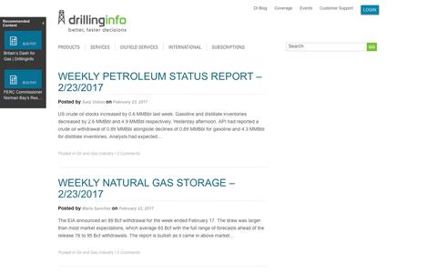 Screenshot of Blog drillinginfo.com - Blog | Drillinginfo - captured Feb. 25, 2017