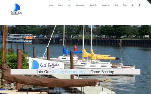 Screenshot of Signup Page sail-buffalo.com - Join - Sail Buffalo - captured Nov. 18, 2016