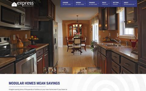 Screenshot of Home Page expressmodular.com - Modular and PreFab Homes - ExpressModular - captured Nov. 17, 2015
