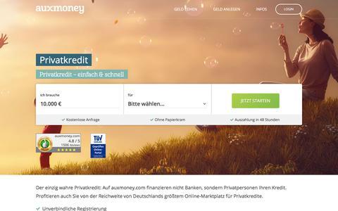 Privatkredit | Privatdarlehen in 3 Minuten! » AUXMONEY
