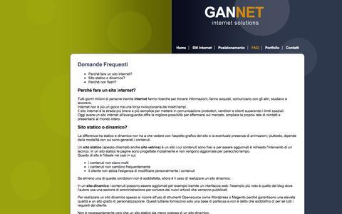 Screenshot of FAQ Page gannet.it - Posizionamento nei motori di ricerca Reggio Emilia - Creazione ottimizzazione siti internet Reggio Emilia - captured Oct. 2, 2014